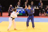 W-70kg 1. Vorrunde: THOYER, Maya (FRA) - MARZOK, Iljana (GER) 000 / 100 [1:51]