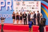 IJF-Präsident Marius Vizer und DJB-Präsident Peter Frese verabschiedeten Claudia Malzahn (Dritte der Weltmeisterschaften 2009) und Ole Bischof (Olympiasieger 2008 und Silbermedaillengewinner der Olympischen Spiele 2012) aus dem DJB-Nationalkader.