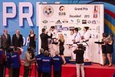 Siegerehrung W-70 kg: 1: POLLING, Kim (NED) 2: VARGAS KOCH, Laura (GER) 3: KIM, Seongyeon (KOR) 3: ROBRA, Juliane (SUI)