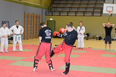 Kickboxen; Pratzentraining und Anwendungen mit Lothar Thoer (1. Dan / Lakan Isa Modern Arnis)