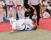 Begegnung zwischen Kim Chi Wiesbaden und der HTG Bad Homburg. Lätitia Täubel verliert leider ihren Kampf durch Fußfeger.