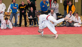 JC Rüsselsheim im Halbfinale gegen die HTG Bad Homburg. Ian Störmer war zwar der Aktivere konnte jedoch keine Wertung erzielen.