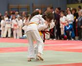 Lea Daniel gewinnt ebenfalls ihre beiden Kämpfe und holt sich die Goldmedaille. Hier bekommt sie einen klaren Ippon für  den Seoi-nage zugesprochen.