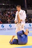 Vorrundenkampf -81 kg: Alexander Wieczerzak (GER) - Jose Arroyo (PER): Alexander gewinnt mit einem Haltegriff.