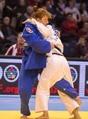 Vorrundenkampf -63 kg: Mungunchimeg Baldorj (MGL) - Claudia Ahrens (GER):