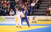 Vorrundenkampf -63 kg: Mariana Barros (BRA) - Nadja Bazynski (GER): Barros gewinnt mit Ippon.