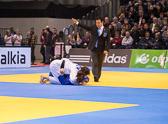 Vorrundenkampf -70 kg: Heide Wollert (GER) - Franciska Szabo (Hun): Heide gewinnt diesen Kampf mit einer Waza-ari Wertung.