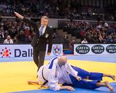 2. Vorrundenkampf -81 kg: Vitalii Dudchyk (UKR) - Alexander Wieczerzak (GER): Alexander geht mit Waza-ari in Führung.