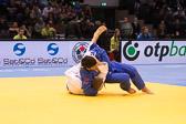 Vorrunde 1 -90kg: Aaron Hildebrand (GER) - Beka Gviniashvili (GEO): Vorrundenaus für Aaron.