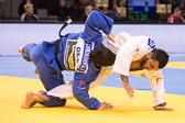 Vorrundenkampf -90kg: Ilias Iliadis (GRE) - Beka Gviniashvili (GEO): Der griechische Ausnahmeathlet (Olympiasieger 2004 und zweifacher Weltmeister) siegt nach hartem Kampf erst im Golden Score mit einem Yuko.