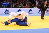 Viertelfinale -90kg: Ilias Iliadis (GRE) - Ciril Großklaus (SUI): Waza-ari Wertung für Ilias.