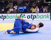 Viertelfinale + 78 kg Lucia Polavder (SLO) - Carolin Weiss (GER): Waza-ari Führung für Carolin