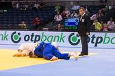 Halbfinale -100 kg: Karl-Richard Frey (GER) - Maxim Rakov (KAZ): Abgewürgt, Frey verliert das Halbfinale.
