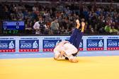 Kampf um Bronze -90 kg: Zviad Gogotchuri (GEO) - Romain Buffet (FRA): Ippon für Zivad und damit Gewinn der Bronze Medaille.