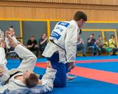 6. Kampf.  (Stand 3-2) Florian Siegler -90 kg: Ippon, damit der Siegpunkt zum 4-2.