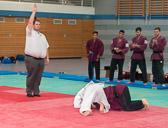 3. Kampf.  (Stand 0-2) Mirco Dudyka -66 kg: Mirco verliert durch einen Seoi-nage.
