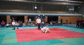 7. Kampf.  (Stand 1-5) Michael Peter Blatt -100 kg: Mangels Gegner gewinnt Peter kampflos. Als Entschädigung demonstriert Peter eine perfekte Fallschule.