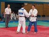 4. Kampf.  (Stand 1-2)  Harald Dudyka - Julian Meixner (-81): Sieg für Julian und damit 1 -3 Führung für das JudoTeam.