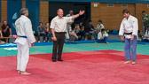 6. Kampf.  (Stand 1-4)  Michael Radig - Tobias Hämel (-90): 1 - 5 Führung für das JudoTeam.