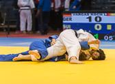 1st Kampf [-70 kg] Vorrunde Laura Vargas Koch (GER) - Juliane Robra (SUI): Laura gewinnt mit einem Haltegriff.