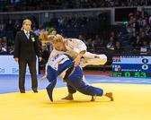 3st Kampf [-70 kg] Szaundra Diedrich (GER) - Fanny Bosvite (FRA): Szaundra gewinnt auch ihren dritten Kampf.