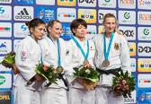 Martyna Trajdos gewinnt die Bronzemedaille in der Gewichtsklasse bis 63 kg.