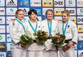 Szaundra Diedrich gewinnt Silber in der Gewichtsklasse bis 70kg.