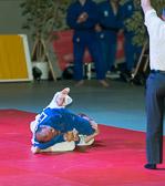 9. Kampf Stand: 4-4 Florian Pachel - Yung Gascard -60 kg: Yung gewinnt vorzeitig mit einem Armhebel.