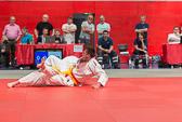 7. Kampf  (Stand 5-1) Mirco Ohl -100 kg: Da diese, an sich sehr effektive Technik, im Judo Wettkampfsport verboten ist, wird der Elzer mit einem Hansoku-make bestraft.